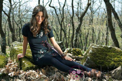 Malena Costa con un vestido de la colección otoño/invierno 2011 de Indiwoman by Individual
