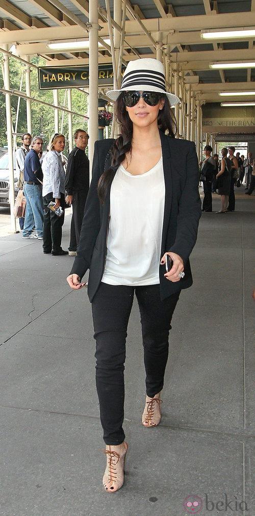 Kim Karsahian, casual en Nueva York