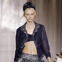 Falda brillante de la colección primavera/verano 2012 de Nina Ricci en París