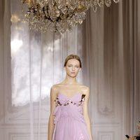 Vestido lila de la colección primavera/verano 2012 de Nina Ricci en París