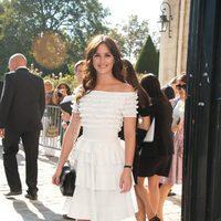 Leighton Meester, de Christian Dior, en el desfile de la marca para primavera de 2012