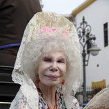La duquesa de Alba con mantilla blanca de encaje