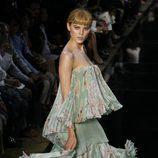 Vestido aguamarina de John Galliano, colección primavera 2012
