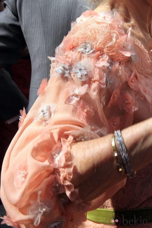 Looks Boda Duquesa de Alba: Detalle de la manga del vestido de Cayetana de Alba