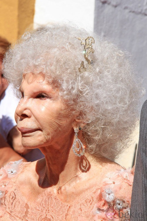 Looks Boda Duquesa de Alba: Peinado de Cayetana de Alba