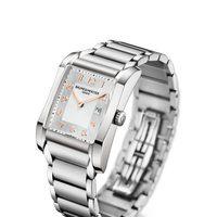 Reloj con correa de plata de la colección Hampton de la firma Baume & Mercier