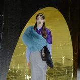 Falda y camisa de cuadros de la colección primavera/verano 2016 de Miu Miu en Paris Fashion Week