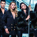 Modelos posan para la campaña de Balmain para H&M