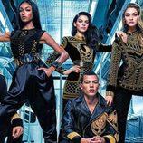 Modelos en el shooting para la campaña de Balmain para H&M