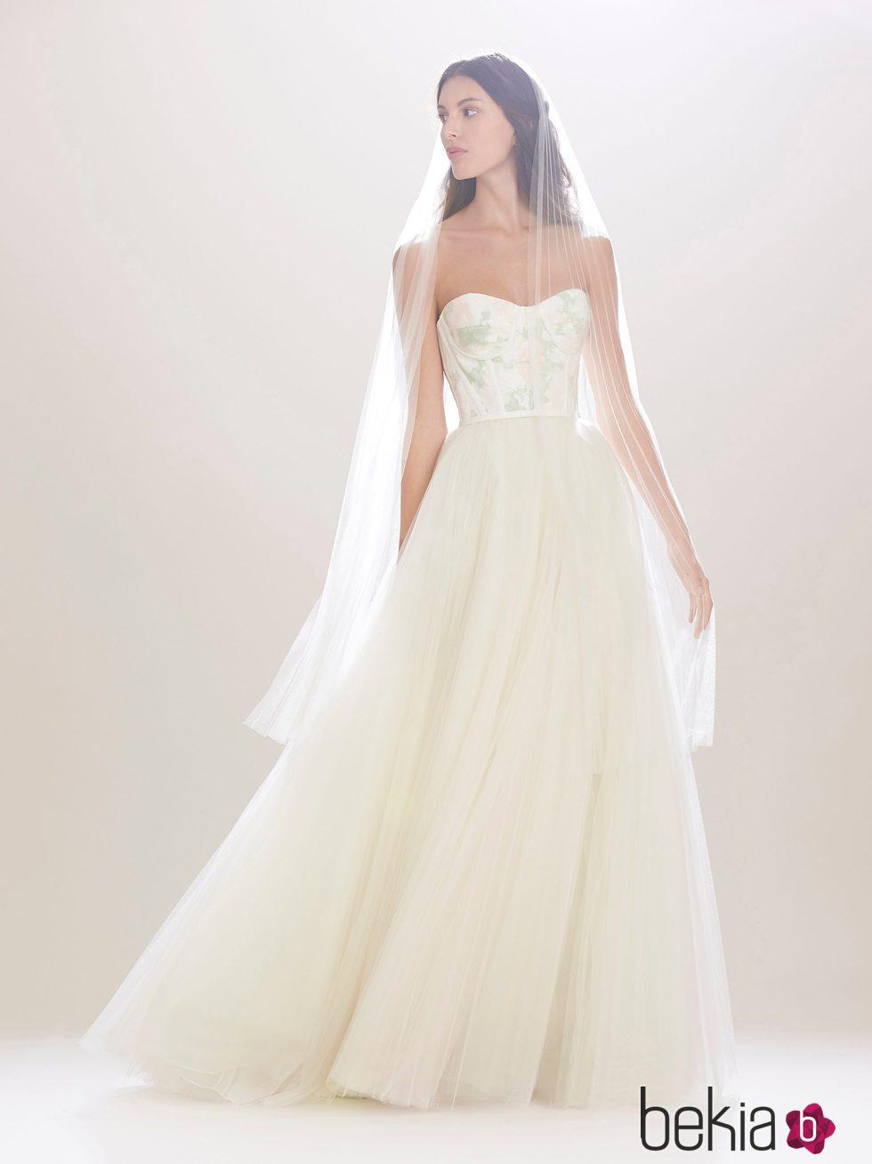 Vestido de novia con corsé de Carolina Herrera 2016 - Colección ...