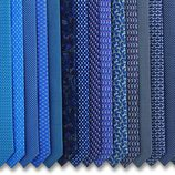 Corbatas en tonos azulados de la colección otoño 2015 de Salvatore Ferragamo