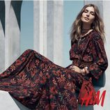 Vestido floral en tonos marrones de la colección otoño/invierno 2015/2016 de H&M
