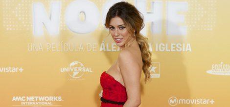 Blanca Suárez con vestido rojo en la premiere de 'Mi Gran Noche'