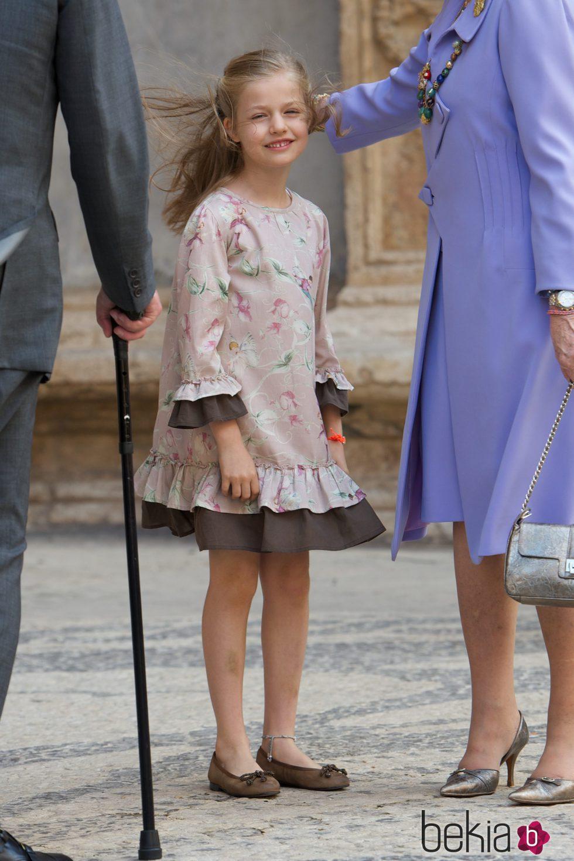 La princesa Leonor con vestido de print floral rosa