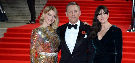 Lea Seydoux, Daniel Craig y Monica Belucci en el estreno de 'Spectre' en Londres