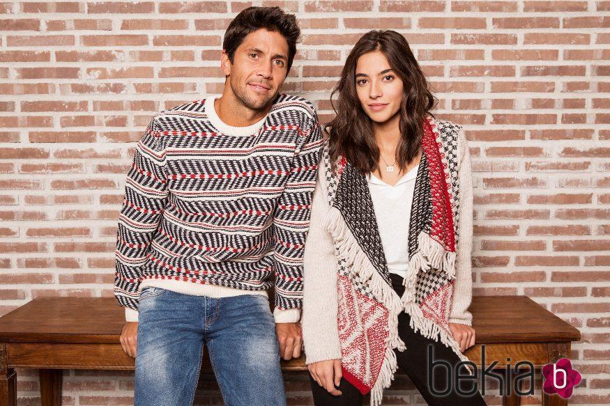 Rocío Crusset con Fernando Verdasco, las nuevas caras de la colección de Navidad 2015 de Springfiled