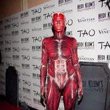 Heidi Klum disfrazada de cuerpo humano en su fiesta de Halloween 2011