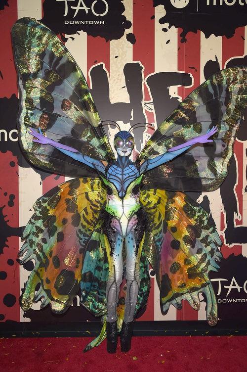 Heidi Klum disfrazada de mariposa en su fiesta de Halloween 2014