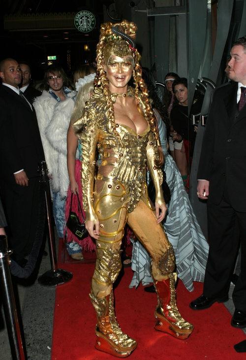 Heidi Klum disfrazada en su fiesta de Halloween 2003