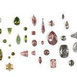 Cristales verdes y rosados de Swarovski de la colección de Jean Paul Gaultier para el otoño/invierno 2016/2017