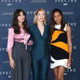 El trío de chicas Bond en un evento de promoción de 'Spectre'