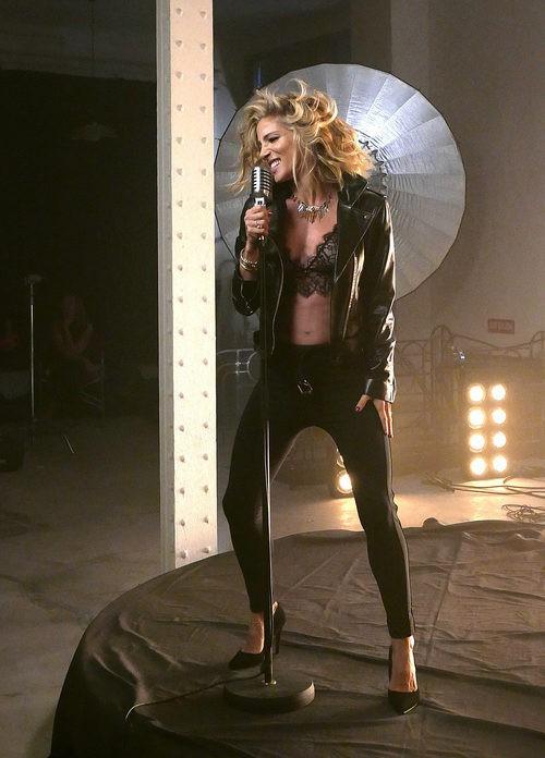 Elsa Pataky en la grabación del videoclip de Limited Edition 2015 de Women'secret