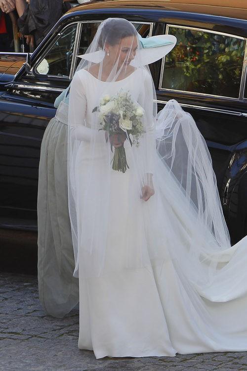El vestido de novia de Eva González firmado por Pronovias