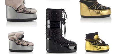 Modelos de botas de la colección Moon Boots x Jimmy Choo