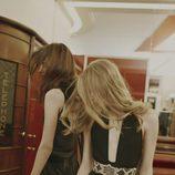 Jumpsuit negro con cinturón beige de la colección Longnights 2015 de Pull & Bear