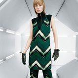Conjunto de vestido y pantalón en tonos verdes y negro de la colección de H&M otoño/Invierno 2015-2016