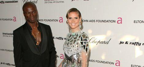 Heidi Klum junto a su ex-marido Seal con un atrevido vestido plateado