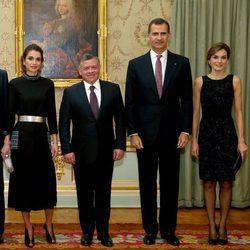 Duelo de estilo entre la Reina Letizia y la Reina Rania de Jordania en su visita a Madrid