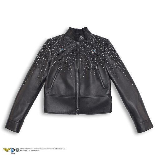 Biker negra de cuero de la colección Goop x Valentino