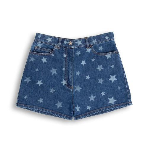 Shorts vaqueros con estampado de estrellas de la colección Goop x Valentino