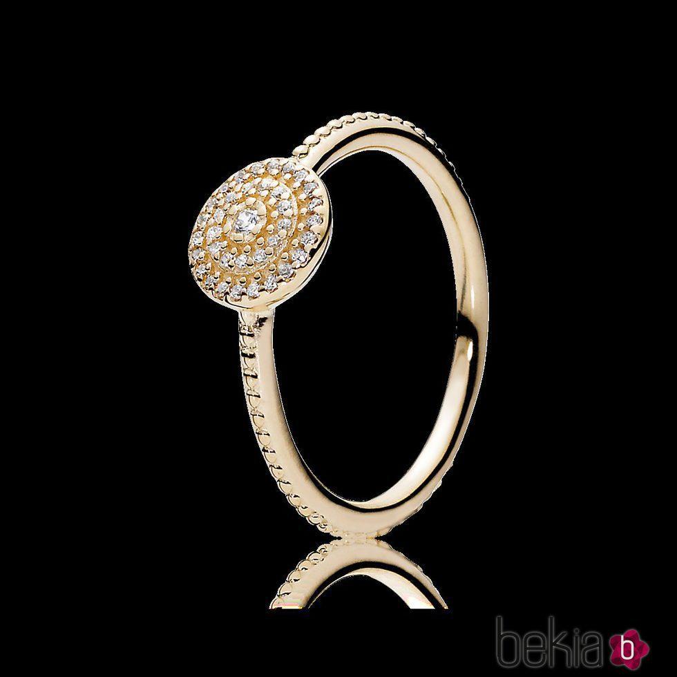 anillo pandora oro y plata