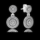 Pendientes de plata con círculos concéntricos de flores de la colección primavera/verano 2016 de Pandora