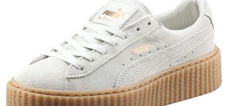 Zapatilla gris claro de la segunda entrega de la colección 'Puma by Rihanna'