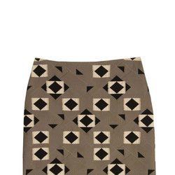 Falda de estampado geométrico de la colección otoño/invierno 2015/2016 de Dolores Promesas