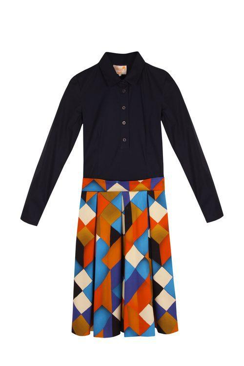 Vestido camisero con formas geométricas de la colección otoño/invierno 2015/2016 de Dolores Promesas