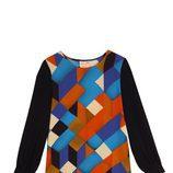 Vestido de manga larga con formas geométricas de la colección otoño/invierno 2015/2016 de Dolores Promesas
