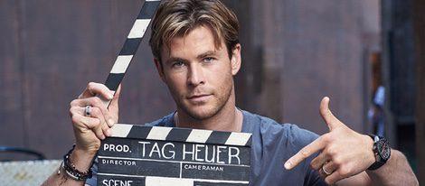Chris Hemsworth rodando el spot para TAG Heuer