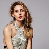 Pendientes plateado con detalles de brillos de la colección de joyas de BaubleBar presentada por Olivia Palermo para la Navidad 2015