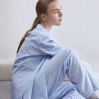 Pijama de rayas azules y blancas de la línea Leisure Wear de H&M