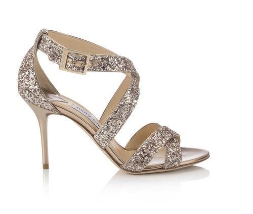 Sandalias de tacón glitter de la línea Let it Shine de la colección Cruise 2015 de Jimmy Choo