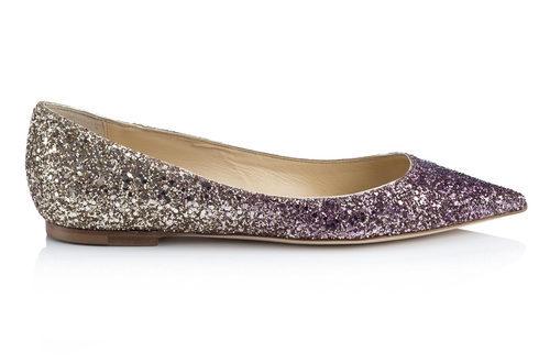 Bailarina plana glitter de la línea Let it Shine de la colección Cruise 2015 de Jimmy Choo