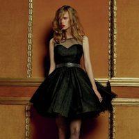 Vestido de vuelo negro de la colección Navidad 2015 de Primark