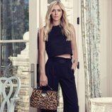 Nicky Hilton con bolso Chateau Satchel en print animal para Linea Pelle