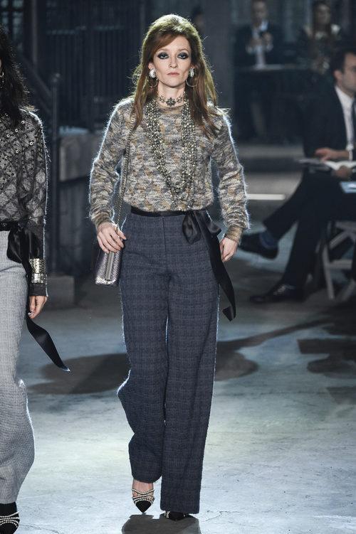 Pantalón de cuadros de la colección 'Métiers d'Art Paris à Rome 2015/2016' de Chanel