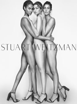 Gigi Hadid, Joan Smalls y Lily Aldridge, imagen de la primavera/verano 2016 de Stuart Weitzman