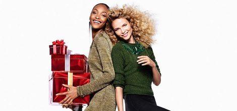 Jourdan Dunn y Natasha Poly con la colección de Navidad 2015 de H&M